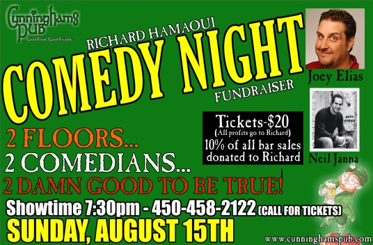 Richard Hamaoui comedy nigh announcement