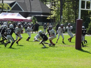 Stallions pee-wee AA #57 scores the tying TD with no time left on the clock